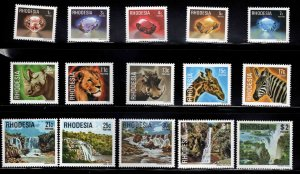 Rhodesia Scott 393-407 MNH** 1978 set
