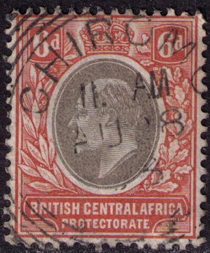 British Central Africa # 63 Used VF Chiromo Cat $ 4.