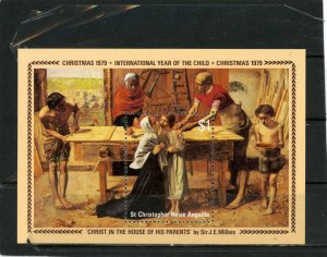 ST.CHRISTOPHER,NEVIS & ANGUILLA 1979 Sc#392 CHRISTMAS PAINTINGS S/S MNH