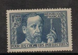 FRANCE SG607 1938 UNEMPLOYED INTELLECTUALS FUND 1f75+ 25c  MTD MINT