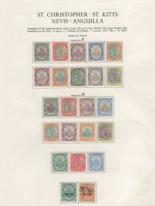 St. Christopher-St. Kitts Stamps 1903-18 Approx. CV. $324 (JH 9/22) GP