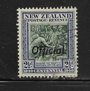 NEW ZEALAND, O80, USED, POSTAGE REVENUE OVERPRINTED