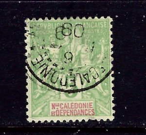 New Caledonia 44 Used 1900 issue