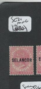 MALAYA SELANGOR (P0410B) QV 2C  SG 21  MNG
