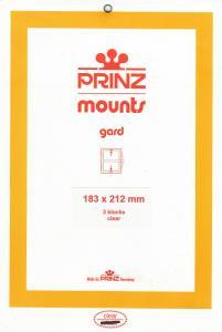 PRINZ CLEAR MOUNTS 183X212 (3) RETAIL PRICE $10.50