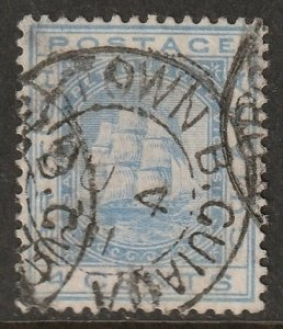 British Guiana 1876 Sc 74 used nice cancel