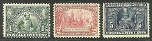 [M41]   US #328-330 Mint-LH OG 1907 JAMESTOWN Expo Set of 3...FREE SHIPPING!!!