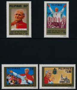 Philippines 1507-11 MNH Pope John Paul II, Manila Cathedral