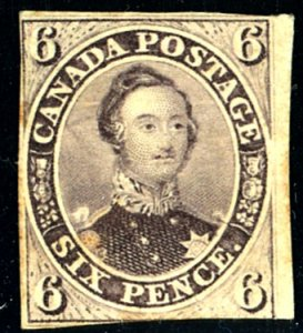 Canada #10 MINT with CERT, Dist OG, REPAIRED TEAR
