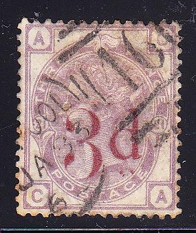 Great Britain 1883 QV 3p on 3d violet  F/VF/Used (o)