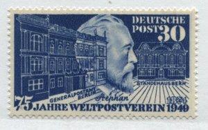 Germany 1949 30 pf blue mint o.g. hinged