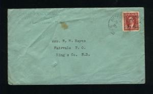Canada #233   postal stationary  used  1937 PD