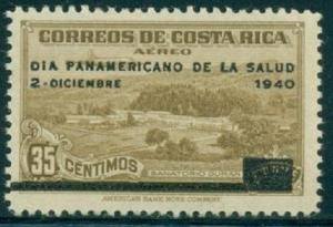 Costa Rica Air Mail Stamp 1940 SC #C49 Pan-American health day 35c Used Postmark