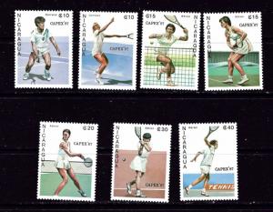 Nicaragua 1624-30 NH 1987 Tennis