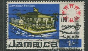 Jamaica -Scott 260- Expo67' -1967 - Used - Single 1/- Stamp
