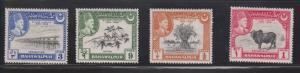 BAHAWALPUR Scott # 22-5 MH - Silver Jubilee Of Bahawalpur