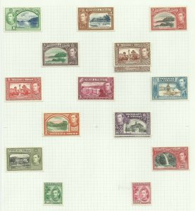 Trinidad & Tobago Set of 14 + 1, Hinged to page, Sg 246-256, M/M {C/P-8}