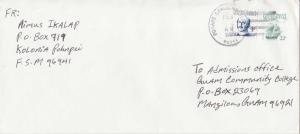 Caroline Islands Micronesia 3c Lutke on 22c Tall Ship Senyavin Envelope 1989 ...