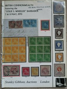 Auction Catalogue LESLIE S WHEELER BARBADOS Stanley Gibbons 1970