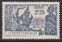 1939 St. Pierre and Miquelon - Sc 206 - MH VF - 1 single - New York World's Fair