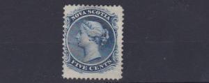 NOVA SCOTIA 1860 - 63  S G  24   5C  BLUE   MH   CAT £550