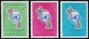 Laos Scott 115-117 (1965) Mint NH VF Complete Set W