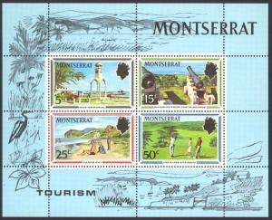 Montserrat Sc# 251a MNH Souvenir Sheet 1970 Tourist Publicity