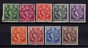 St Lucia 1953-63 Elizabeth II Definitive Partial Set