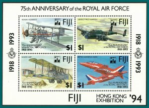 Fiji 1994 Royal Air Force, Hong Kong MS, MNH  #691a,SGMS888