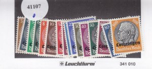German Occupation of Luxembourg: Sc N43-N58, MH (41107)