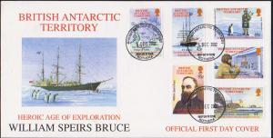 British Antarctic Territory Scott 316-321 Unaddressed.