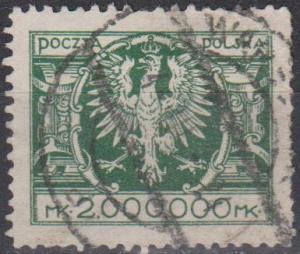 Poland #214  F-VF Used CV $225.00 (A13080)