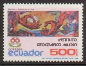 Ecuador ~ #1177 ~ Creation Mural ~ MNH
