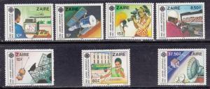 Zaire # 1139-1145, World Telecommunications Year, Mint NH