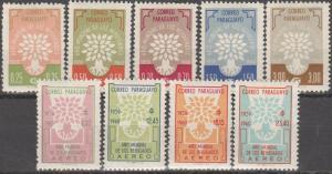 Paraguay #560-64, C265-8  MNH  CV $9.90 (S842)