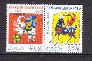 J26321  jlstamps 2002 greece pair set mnh #2031 europa