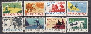 J27578 1962 romania set mh #1502-9 sports