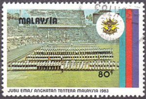 Malaysia # 265 used ~ 80¢ Trooping of the Royal Colors