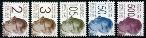 HERRICKSTAMP KAZAKHSTAN Sc.# 541-45 Nikolai Repinsky Stamps (Architecture)