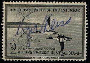 Scott #RW23 VF - $2 Black - Hunting Permit Stamps - Used - 1956