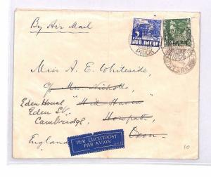 Dutch Colonies EAST INDIES *Tandjong Priok* Air Mail Cover GB 1939 BN122