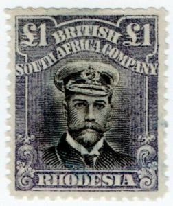 (I.B) Rhodesia/BSAC Revenue : Duty Stamp £1 (SG 279a)