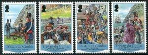 HERRICKSTAMP NEW ISSUES TRISTAN DA CUNHA Sc.# 1081-84 British Garrison