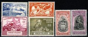 Virgin Islands #92-97  F-VF Unused CV $4.10 (X990)