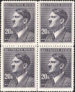 Stamp Germany Bohemia B&M Mi 108 Sc 81 Block 1942 WW2 Dictator Hitler MNH