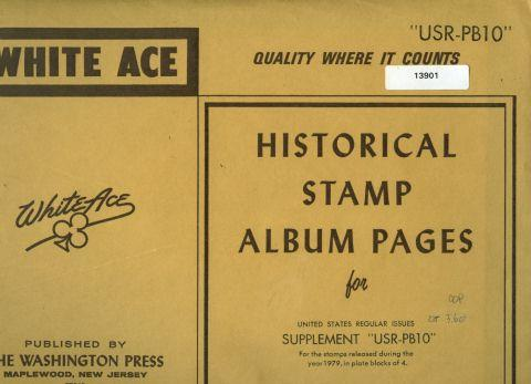 WHITE ACE suppl USR-PB10 — US regs in pl blks 1979 (#13901)