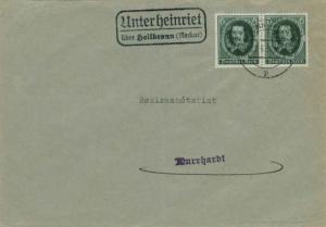 Germany 6pf Otto von Guericke Anniversary (2) 1936 Heilbronn (Neckar) to Murr...