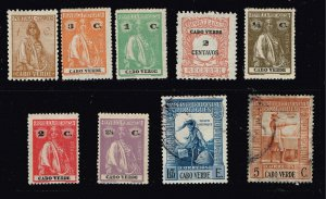 Portugal Stamp Cape Verde Islands STAMP COLLECTION LOT