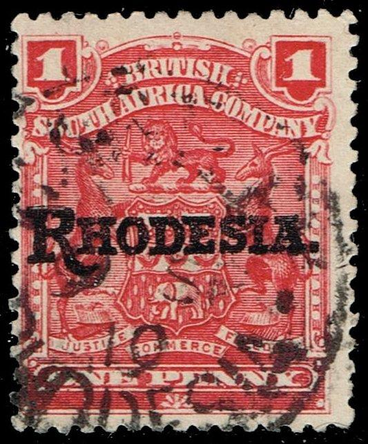 Rhodesia #83 Coat of Arms - Overprinted; Used (1.75)