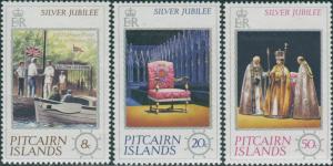 Pitcairn Islands 1977 SG171-173 Silver Jubilee set MNH